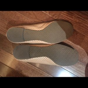 Tory Burch Shoes - Tory Burch beige perforated flats. Like new.